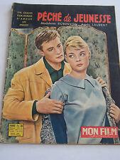 PECHE DE JEUNESSE , un grand film-roman d' amour en images . 1958 .