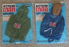 vintage action man 40th anniversary explorer adventurer jackets carded boxed