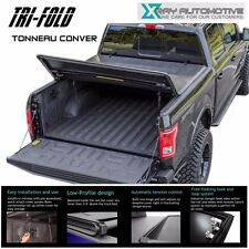 "Premium Soft Tri-Fold Tonneau Cover Fit 2007-2013 Chevy Silverado 5.8FT 68"" Bed"