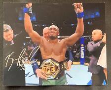 KAMARU USMAN Autographed UFC GLOSSY 8x10 PHOTO w/ NIGHTMARE INSCRIPTION