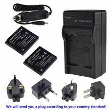2X Battery + charger for Panasonic Lumix DMW-BCK7 DMC-SZ5 DMC-SZ7 DMC-TS20 TS25
