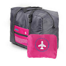New Carry-on Organizer Hand Duffle Bag Foldable Travel Storage Luggage Hot Pink