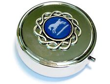Genuine, Wedgwood Cameo On Silver Plated Round Pill Box