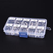 100pcs 5x20mm Quick Blow Glass Assorted Fuse Amp 0.2A0.5A1A2A3A5A8A10A15A20A MH