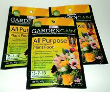 3 BGI GARDENGAIN ALL PURPOSE Controlled Release Plant Food Net weight 40g eaNIP