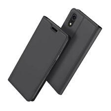 Funda con Tapa para iPhone XR Cierre Magnético Función Soporte - Gris Oscuro