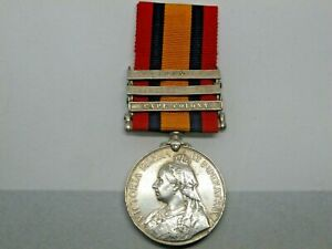 Boer War, Queen's South Africa Medal with 3 bars, Pte E Riley, Scottish Rifles