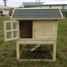 "US 37"" Wooden Chicken Coop Hen House Pet Animal Poultry Cage Rabbit Hutch Nest"