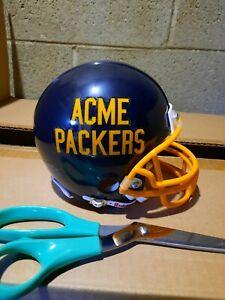 Green bay acme packers custom  riddell mini helmet navy