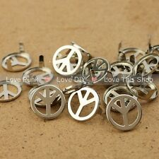 NEW 100pcs 16mm Silver Peace Rivet Spike Nickel Free Shipping Dropshipping