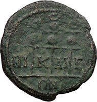 SEVERUS ALEXANDER 222AD Nicaea Bithynia Ancient  Roman Coin 3 Standards  i30826