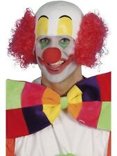 Unisex Mens Rubber Clown Top Wig with Hair Circus Funny Fancy Halloween Horror