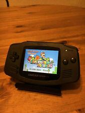 Nintendo GameBoy Game Boy Advance IPS V2 Backlit Custom All Black Backlight