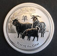 Australia - Silver 50 Cents Coin - 1/2 Oz. - 'Year of the Goat' - 2015 - Proof