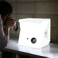 Portable Photo Studio, HMMJ Folding Photography LED Light Box, Backdrop Cube Kit