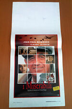 I MISERABILI locandina poster Les misérables Victor Hugo Belmondo Girardot AK87