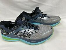 Saucony Triumph ISO 2 Women's Gray/Blue/Slime Road-Running Shoes Size 19