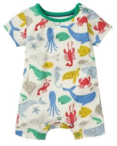 Ex Baby B0den Under the Sea Jersey short Romper Sizes 0-3 up to 18/24Mnths