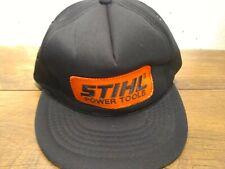 Vintage Stihl power tools Cap/ hat Trucker Snapback, foam, black