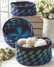 Nesting Tapestry Baskets crochet PATTERN INSTRUCTIONS