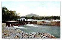 Early 1900s Fresno County Irrigation Dam, Kings River, CA Postcard *5K9