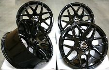 """ALLOY WHEELS X 4 FOR MAZDA RX7 RX8 5X114 ONLY 18"""" BLACK CR1"""
