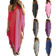 Spring Summer Women Asymmetric Maxi Long Dress One Shoulder Sexy Beach Dress 3XL