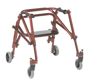 Nimbo 2G Lightweight Posterior Walker with Seat, Small, Castle Red