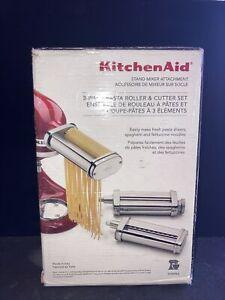 KitchenAid 3-Piece Pasta Roller & Cutter Attachment Set Brand New In Box! KSMPRA