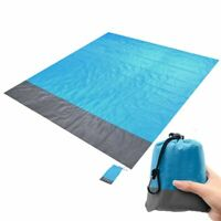 "US 82"" x 79"" Sand Free Beach Blanket Water Resistant & Sand Proof Beach Mat Soft"