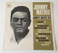 JOHNNY MATHIS ~ JOHNNY'S GREATEST HITS ~ 1965 UK 12-TRACK MONO VINYL LP RECORD