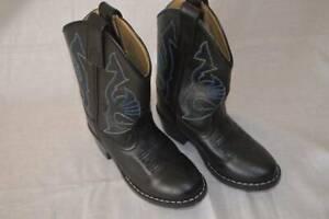 EUC Boys size 10 Masterson Boot Co Cowboy Boots black Leather upper