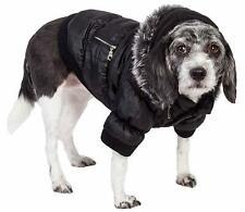 Pet Life Metallic Fashion Pet Parka Coat size XL Black