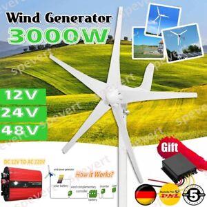 3000W 12V/24V/48V Windgenerator Windkraftanlage Windrad Windrad 5 Klinge Turbine