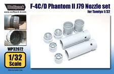 Wolfpack WP32072, F-4C/D Phantom II J79 Engine Nozzle set (for Tamiya,SCALE 1/32