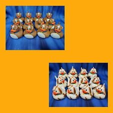 12 Puppy Hound Brown Dog Doggy Rubber Ducks Birthday Party Favors