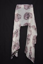 Mellow Yellow Candy Pink Maroon & Black Flower Sculls Print Pom-Poms Scarf S175B