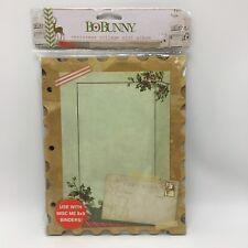 Distressed Vintage Christmas Postage Stamp Chunky Chip Board Mini Album BoBunny
