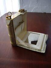 True  vintage vanity case/ bag  / purse / neccessaire. silver & gold colours.
