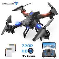 SNAPTAIN WiFi FPV Drone 720P HD Camera Voice Control RC Quadcopter Altitude-Hold