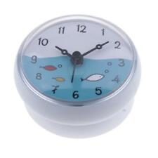 Bathroom Silicone Wall Suction Clock Waterproof Time Display Home Decor Gift