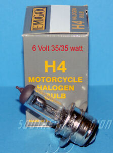 Birne Headlamp Bulb 6V British sockel H4 BSA Triumph AJS Norton Ariel Panther
