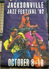 """RARE! 1992 Jacksonville Jazz Festival Streetlamp Banner, 70""""x41"""", USED"""