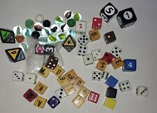 Big Destash Lot of Game Die Dice & Misc Marbles 67 Pieces Mixed Media Art