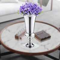 400mmLarge Stunning Silver Iron Luxury Flower Vase Urn Wedding Table Centrepiece
