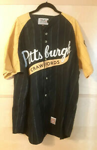 PITTSBURGH CRAWFORDS Pinstripe 1930s Negro League Baseball Sewn Jersey =SIZE XL=
