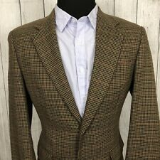 Lauren Ralph Lauren 40R Brown Houndstooth Wool 2-Button Single Vent Sports Coat