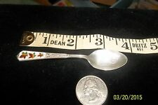 ANTIQUE Goose Bay Canada Sterling Enameled maple leaf Souvenir Spoon