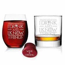 Game Of Thrones Glasses - I Drink and I know Things Whiskey Highball and I Drink