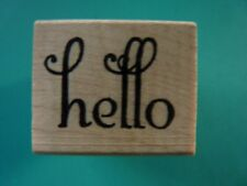 Hello - Single Word SAVVY STAMPS Rubber Stamp